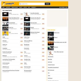 Kostenlose Songtexte, Lyrics, Liedtexte und Übersetzungen auf Songtexte.com