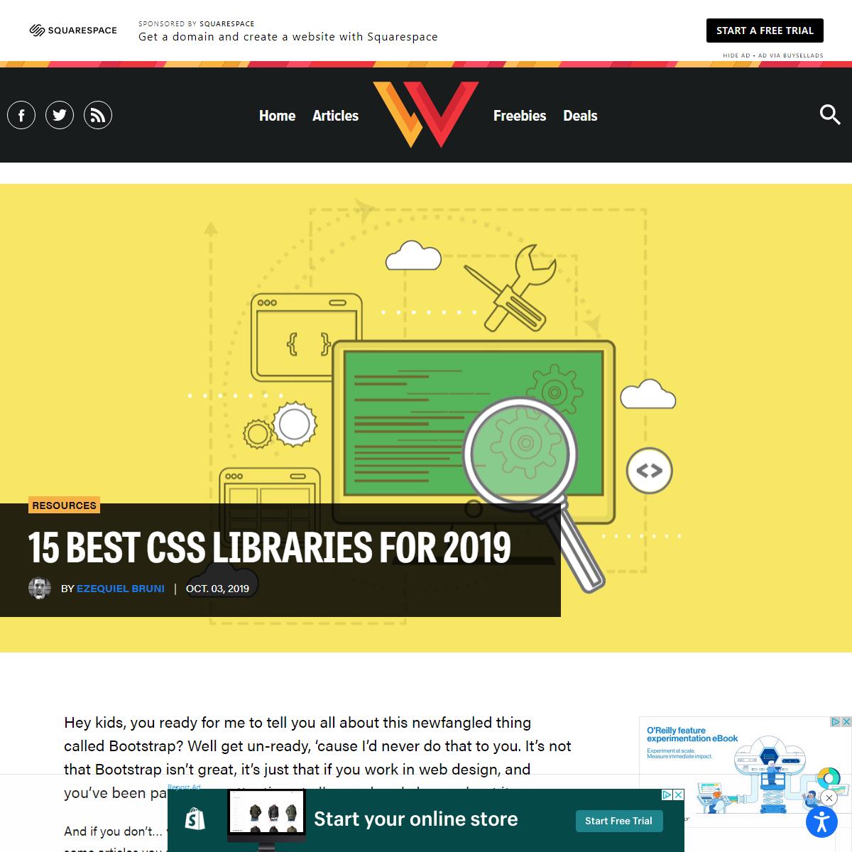 15 Best CSS Libraries for 2019 - Webdesigner Depot Webdesigner Depot » Blog Archive