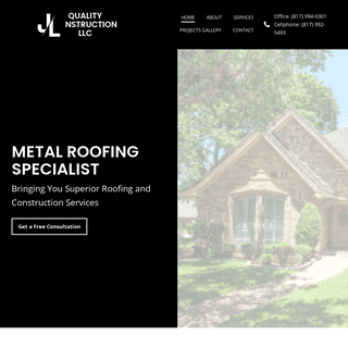 Roofing and Construction Services in Dallas County, TX