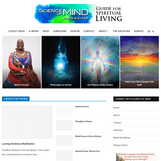 Guide for Spiritual Living - Science of Mind Magazine