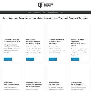 Architectural Foundation - Architecture Advice, Tips and Product Reviews - Architectural Foundation