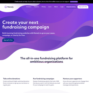 Raisely- The free charity fundraising platform