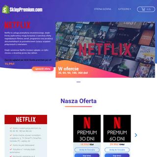 SklepPremium.com – Sprzedaż kont premium Netflix, HBO, Spotify…