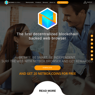 Netbox.Global - Get paid to surf with the first decentralized blockchain backed web browser
