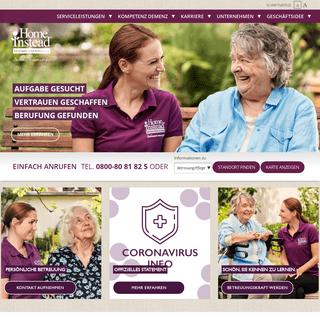 Home Instead Seniorenbetreuung - Pflege zu Hause