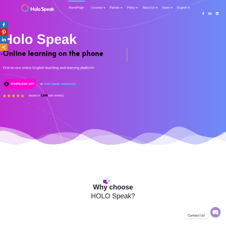 HomePage - Holo Speak