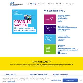 NHS - #WeAreCommunity - Kent Community Health NHS Foundation Trust