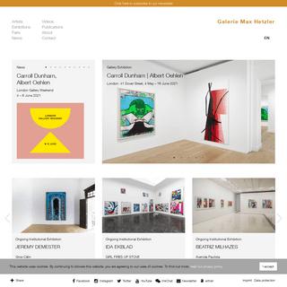 Home - Galerie Max Hetzler