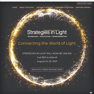 Strategies in Light 2021 - New insights. New ideas. Hear from the experts on the very latest on the advancements in lighting.
