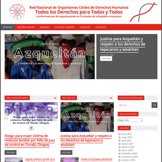 Red TDT – Red Nacional de Organismos Civiles de derechos humanosTodos los derechos para todas y todos