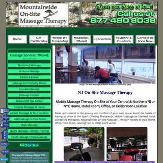 Mountainside On-Site Massage Therapy.™ NJ & NYC`s Premiere Mobile Massage & Spa Party Providers - Office Chair Massage in NJ a