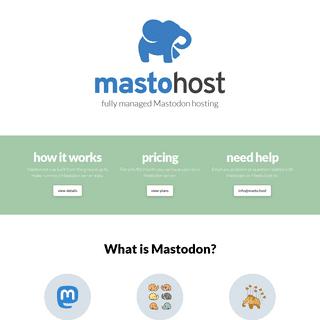 Masto.host - Fully Managed Mastodon Hosting