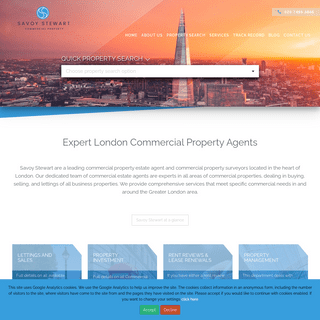 Commercial Estate Agents - London Commercial Property Agents - Savoy Stewart