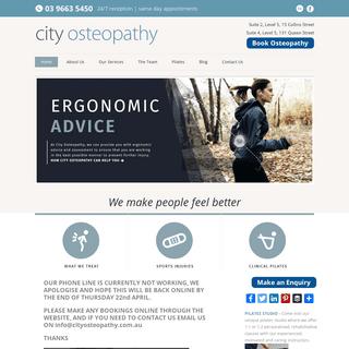 Osteopath Melbourne - Pilates Melbourne - Remedial Massage Melbourne
