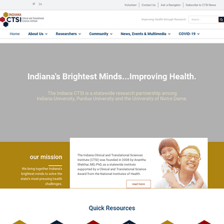 Indiana CTSI – Improving Health through Research