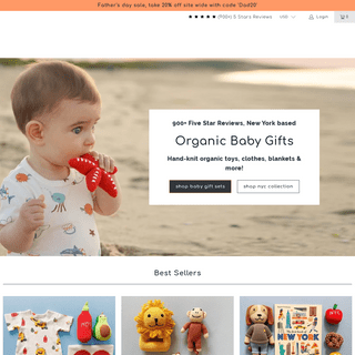 Organic Baby Gifts, Clothes, Toys & Accessories - Estella