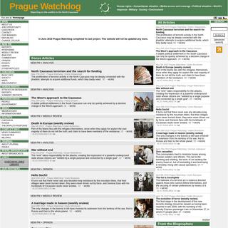 Prague Watchdog - Crisis in Chechnya - www.watchdog.cz