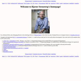 Bjarne Stroustrup`s Homepage