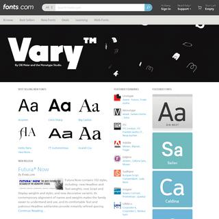 Fonts.com - Find, Buy & Download Best Fonts