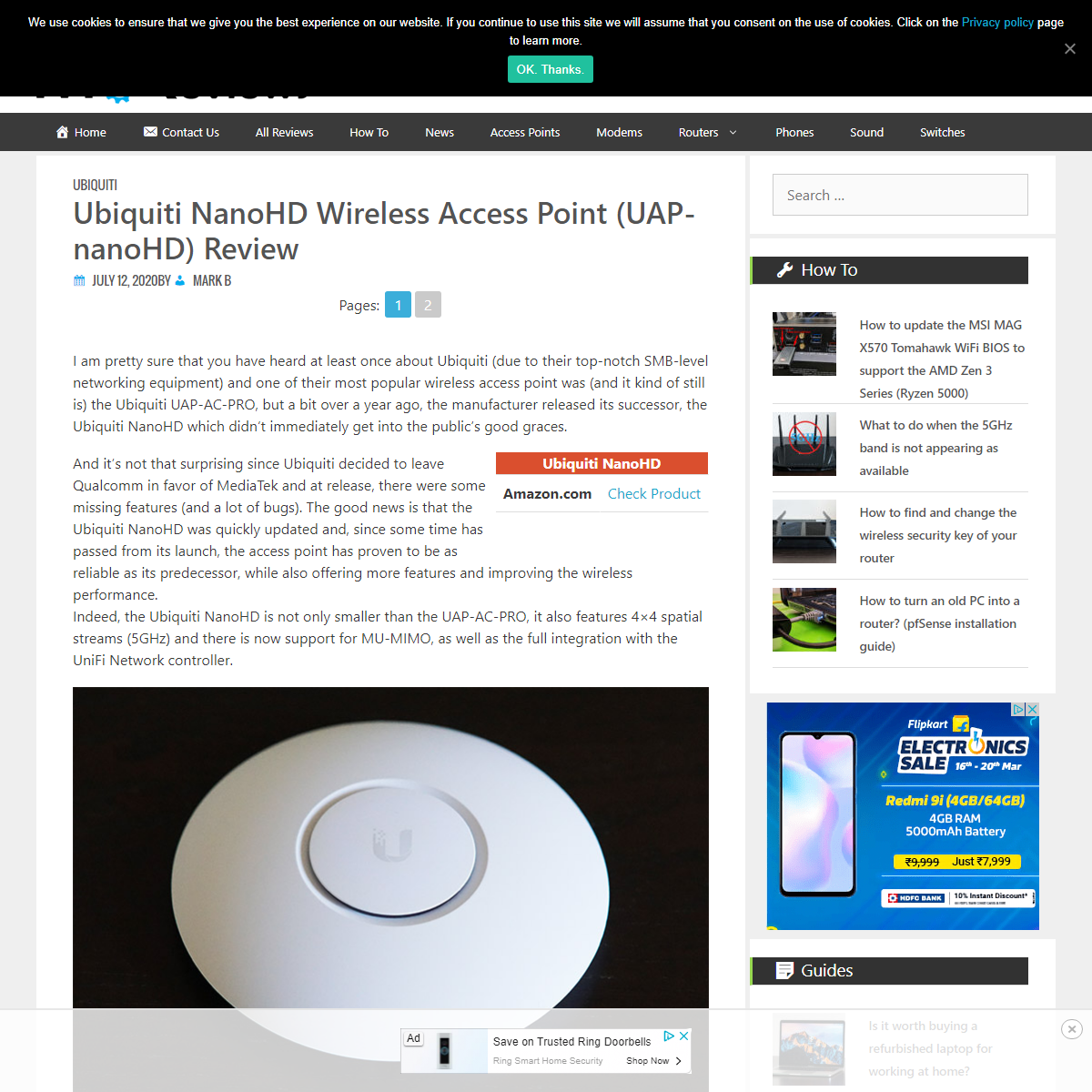 Ubiquiti NanoHD Wireless Access Point (UAP-nanoHD) Review – MBReviews