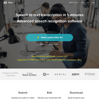 Audio to Text Automatic Transcription Service & App - temi.com