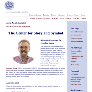 Dr. Jonathan Young, Center for Story and Symbol - Continuing Education Workshops, Seminars, Home Study