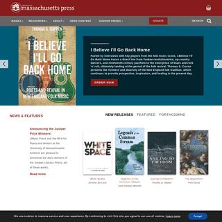 Homepage - University of Massachusetts Press