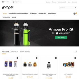Site de vente de cigarette électronique le moins cher de France, SMOK,Vaporesso,Innokin et Aspire