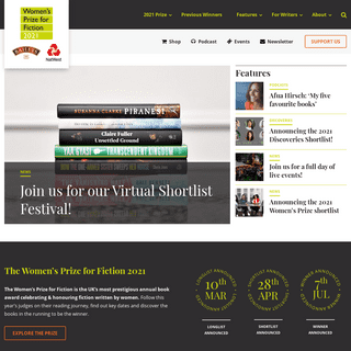 Women`s Prize for Fiction Home - Women`s Prize for Fiction