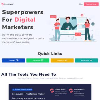 Professional marketing tools - GrooveDigital Inc.