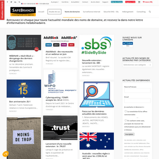 L`actualité des noms de domaine - SafeBrands