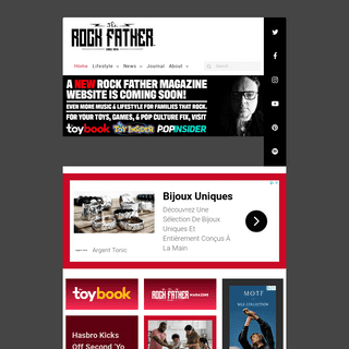 THE ROCK FATHER™ Magazine- The Internet`s Finest Website — Music & Lifestyle for Families that Rock.