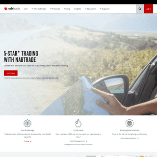 Trade Australian & International Shares Online - nabtrade