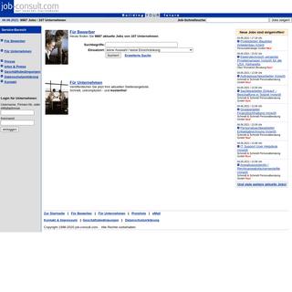 Job-Consult - Der Internet-Stellenmarkt - Heute mit 9887 Jobs!