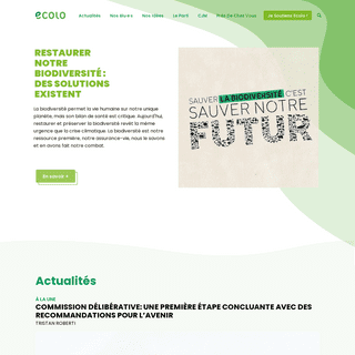 Ecolo – Le parti vert francophone - ecolo.be