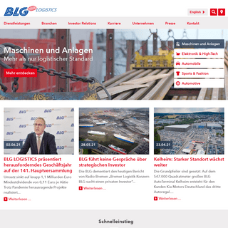 Globaler Logistik-Dienstleister seit 1877 - BLG LOGISTICS