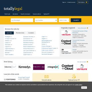 Search Legal Jobs & Vacancies - Law Careers - TotallyLegal