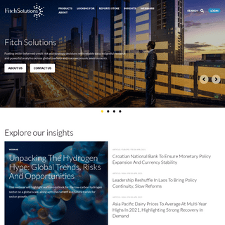 Fitch Solutions- Data, Research & Analytics for Credit Risk & Strategy