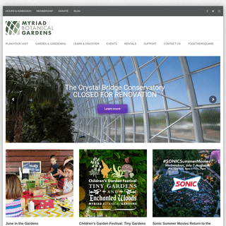 Myriad Botanical Gardens – Welcome to the Oklahoma City Myriad Botanical Gardens & Crystal Bridge