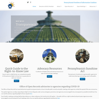 PaFOIC – Pennsylvania Freedom of Information Coalition