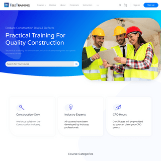 Practical Training for Quality Construction - Teletraining