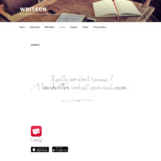 Lovely – WriteOn