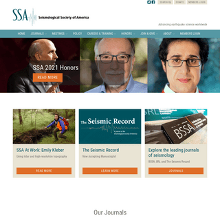 Seismological Society of America - Advancing earthquake science worldwide