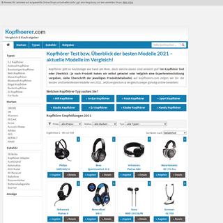 Kopfhörer Test und Vergleich 2021 auf kopfhoerer.com