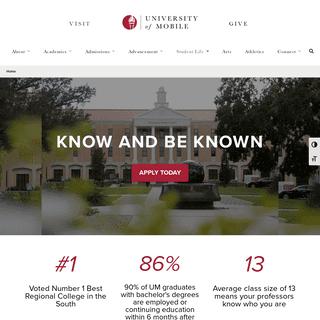 University of Mobile - Christ-centered academic community in Mobile, AL