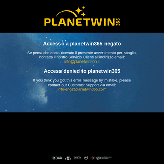 Access denied - planetwin365