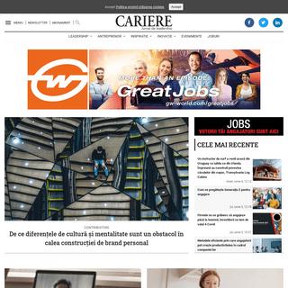 Revista Cariere - Jurnal de leadership