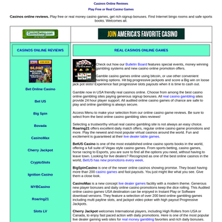 Casinos Online Reviews - Play Free or Real Casino Games