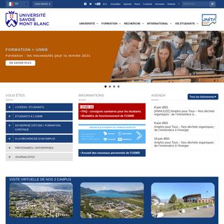Université Savoie Mont Blanc - Formation - Recherche