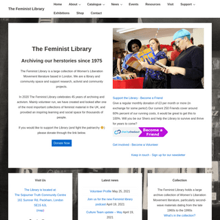 The Feminist Library – Archiving our herstories since 1975